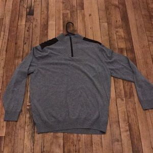 Other - Gray Quarter Zip Formal Sweater